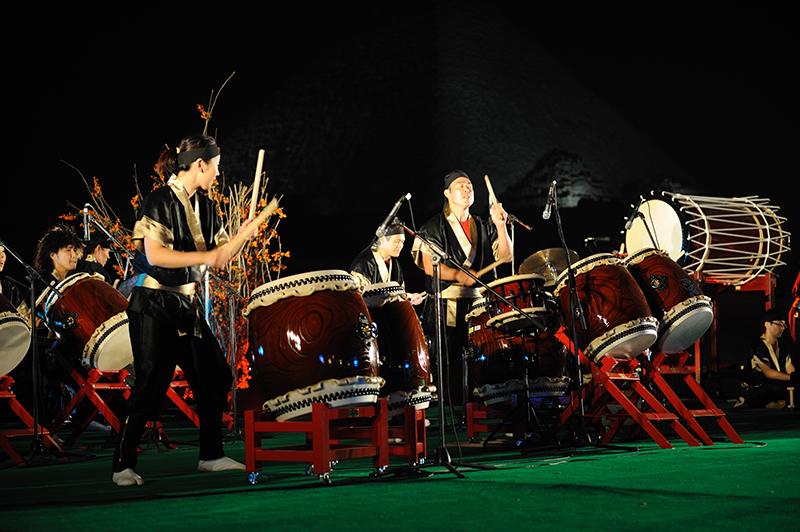 Démonstration de Taiko, le tambour emblématique de la culture japonaise