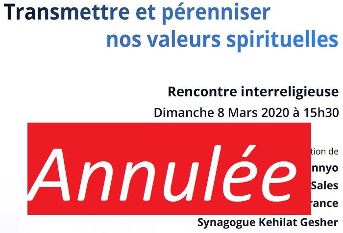 ANNULEE - Rencontre inter-religieuse 8 mars 2020