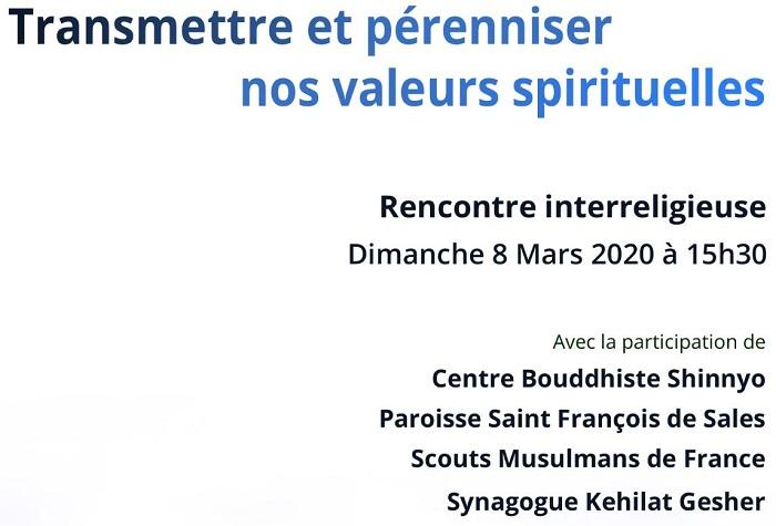 Rencontre inter-religieuse 8 mars 2020